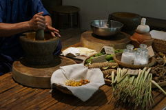 Thailändische traditionelle Massage des medizinischen Kräuterkrauts bereiten Konzept vor Lizenzfreie Stockfotos