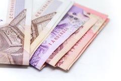 Thailändische Währung im Hintergrund und Lizenzfreie Stockbilder