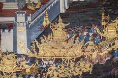 Thailändische Wandmalerei Lizenzfreies Stockbild