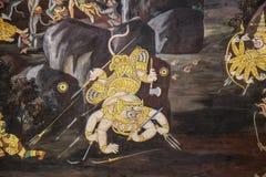 Thailändische Wandmalerei Stockfoto