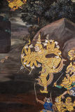 Thailändische Wandmalerei Stockfotos