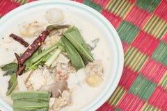 Thailändische weiße Suppe. Stockbilder
