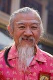 Thailändischer alter Mann des Porträts Bangkok, Thailand Stockfoto