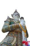Thailändischer antiker Riese auf wat arun Stockbild