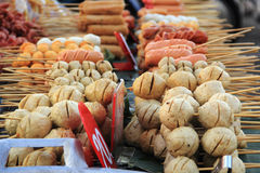 Thailändischer Artfleischball und -wurst Lizenzfreie Stockfotos