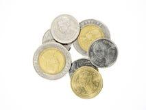 Thailändischer Baht der Geld-Münze Stockbild