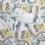 Thailändischer Baht des Geldes 20, thailändischer Banknotenhintergrund Lizenzfreies Stockfoto