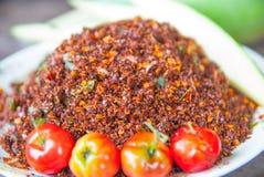Thailändischer Chili Salt Lizenzfreies Stockbild