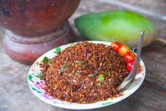 Thailändischer Chili Salt Lizenzfreies Stockfoto