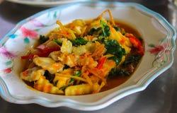 Thailändischer Curry mit Kokosnusstrieb Stockbilder