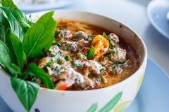 Thailändischer Curry mit Miesmuschel - Archivbild Lizenzfreies Stockfoto