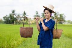 Thailändischer Frauenlandwirt Stockfoto