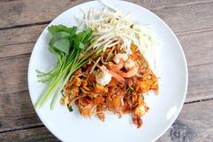 Thailändischer Fried Noodles lizenzfreies stockbild