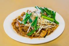 Thailändischer Fried Noodles rief Pad Thai und Gemüse an Lizenzfreies Stockbild