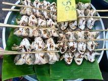 Thailändischer Froschgrill Stockbild