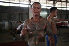 Thailändischer Gefängnis-Kämpfer Muay stockfotografie