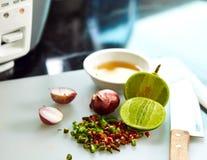 Thailändischer Geschmack der Fischsauce drei Stockfotos