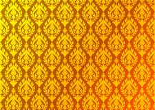 Thailändischer goldener Weinlesemustervektor-Zusammenfassungshintergrund Stockbild