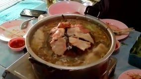 Thailändischer Grill, thailändisches Grill-Buffet, stock footage