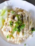 Thailändischer Huhnreis Stockfotografie