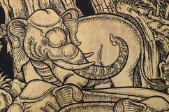 Thailändischer klassischer Art Elephant Stockfoto