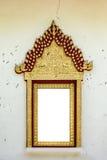 Thailändischer klassischer Artfensterbogen Stockbilder