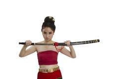 Thailändischer Krieger lizenzfreies stockbild