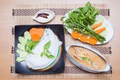 Thailändischer Lebensmittelcurryreis Stockfotografie