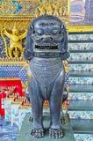 Thailändischer Leo Statue Temple lizenzfreies stockfoto