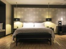 Thailändischer Luxusschlafzimmer Innenraum Lizenzfreie Stockbilder