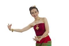 Thailändischer Mädchentanz lizenzfreie stockfotografie