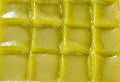 Thailändischer Nachtisch des grünen Kuchens der Schicht süßen klebrigen stockbilder
