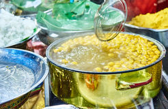 Thailändischer Nachtisch im Markt Bangkok Thailand Lizenzfreies Stockbild