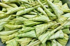 Thailändischer Nachtisch, Khanom Tom Thai Language Stockfoto
