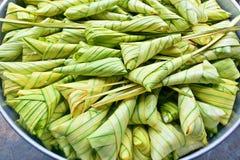 Thailändischer Nachtisch, Khanom Tom Thai Language Stockfotos