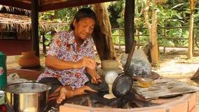 thailändischer Nachtisch PAK-MOR stock video