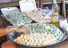 Thailändischer Nachtisch (süßer Dampf-thailändischer Nachtisch) Lizenzfreies Stockfoto