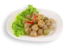 Thailändischer Nachtisch (süßer Dampf-thailändischer Nachtisch) Stockbild