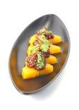 Thailändischer Nachtisch (süßer Dampf-thailändischer Nachtisch) Lizenzfreie Stockfotografie