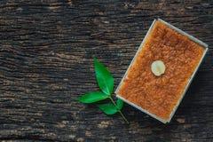 Thailändischer Nachtisch-süßer Vanillepudding oder Khanom Mo Kaeng Lizenzfreie Stockbilder