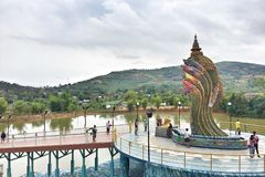 Thailändischer Naga stockfotos