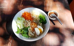 Thailändischer Nudelnordsalat Lizenzfreie Stockfotos