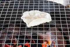` Thailändischer Reis knusperiges ` Khao Kriap stockfotografie