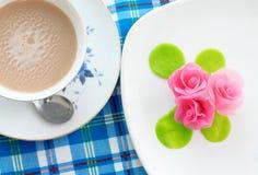 Thailändischer rosafarbener aalaw Nachtisch Lizenzfreies Stockbild
