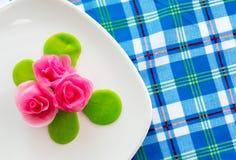 Thailändischer rosafarbener aalaw Nachtisch Lizenzfreies Stockfoto
