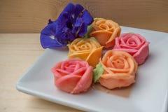 Thailändischer rosafarbener aalaw Nachtisch Lizenzfreie Stockfotos