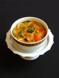 Thailändischer roter Curry mit Schweinefleisch Stockfoto