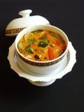 Thailändischer roter Curry mit Schweinefleisch Stockfotografie