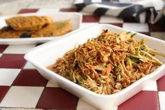 thailändischer Salat der Auster mit Würze Lizenzfreie Stockbilder