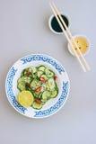 Thailändischer Salat der Gurke Stockbild